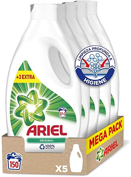 Pack 5 Detergente líquido Ariel Original