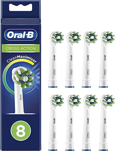 Pack 8 cabezales Oral-B CrossAction cleanmaximiser