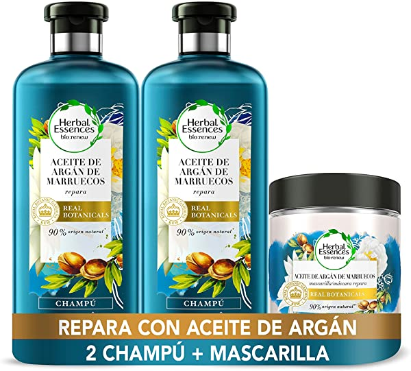 Pack Reparación Herbal Essences Aceite de Argán de Marruecos