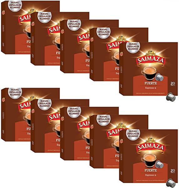 Saimaza Café Fuerte Espresso 9 - 200 cápsulas de aluminio