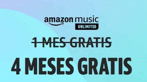 4 meses gratis Amazon Music Unlimited