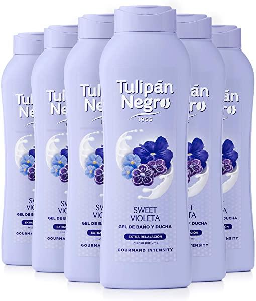 Pack 6 x 720 ml Gel De Baño Tulipán Negro Sweet Violeta