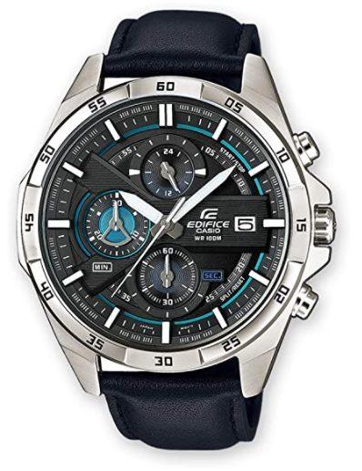¡Chollo! Reloj Casio Edifice EFR-556L-1AVUEF con correa de cuero