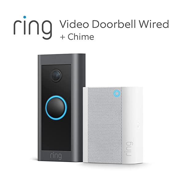 Ring Video Doorbell Wired + timbre Chime de Amazon