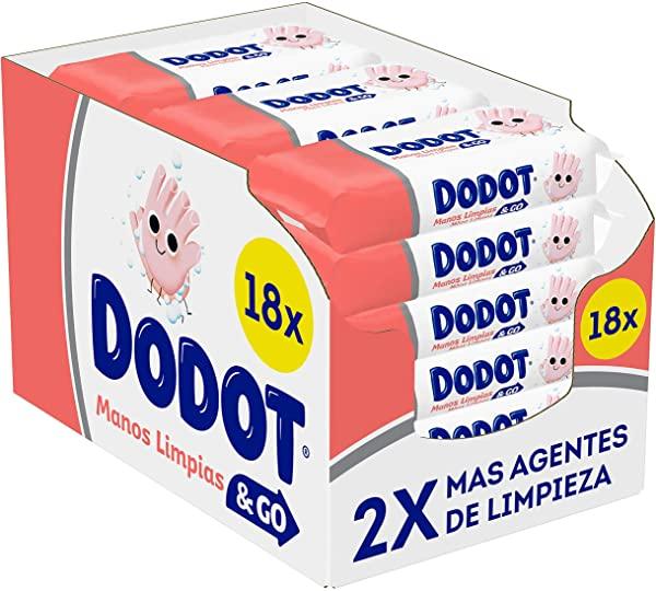 Pack x 18 Dodot Manos Limpias & Go
